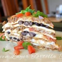 Seven Layer Tortilla Pie