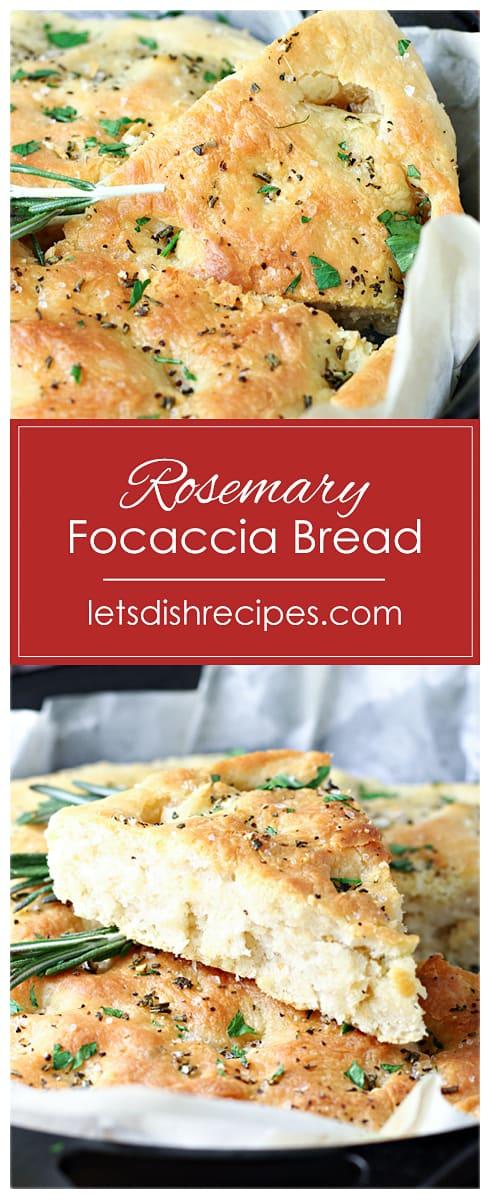 Easy Rosemary Focaccia Bread