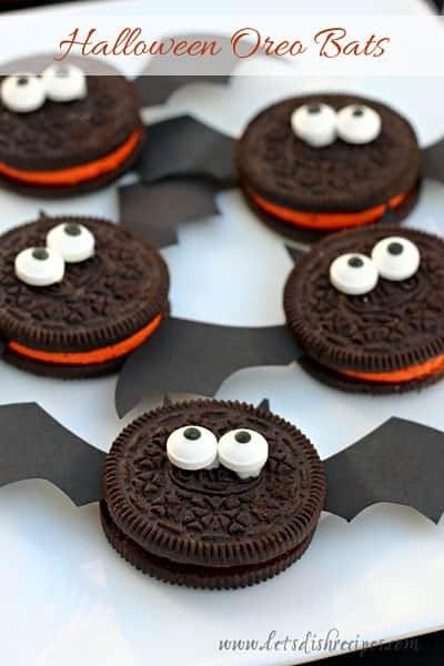 halloween oreo bats