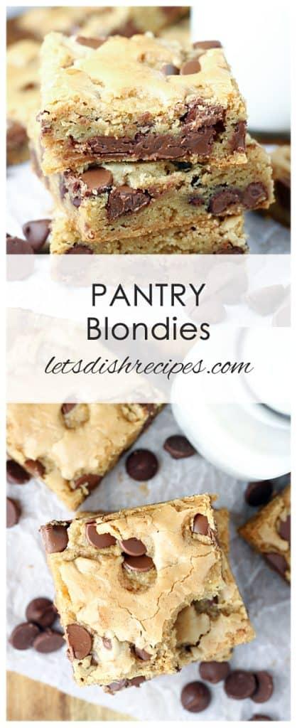 Pantry Blondies