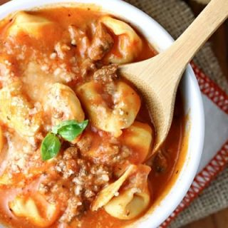 Creamy Tomato, Sausage and Tortellini Soup