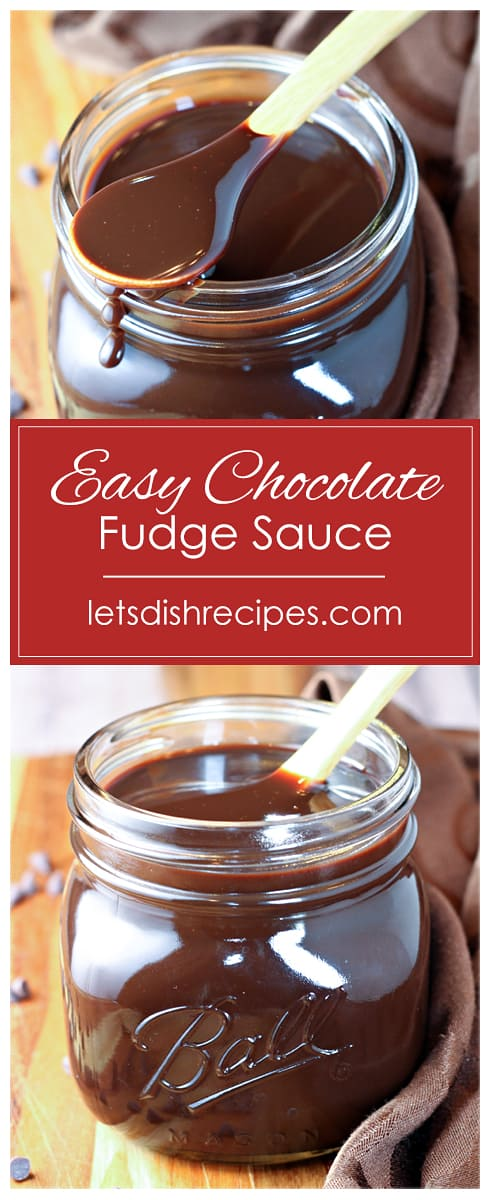 Easy Chocolate Fudge Sauce