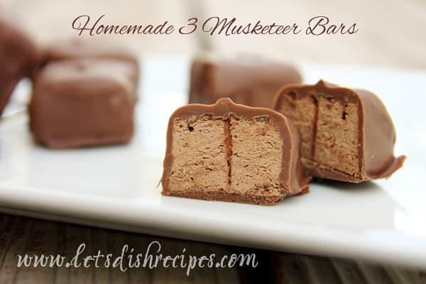 Homemade Three Musketeer Bars