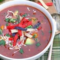 Easy Vegetarian Tortilla Soup