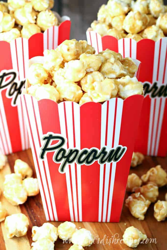 Oscar Party Caramel Popcorn