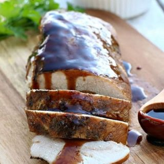 Slow Cooker Brown Sugar and Balsamic Glazed Pork Tenderloin