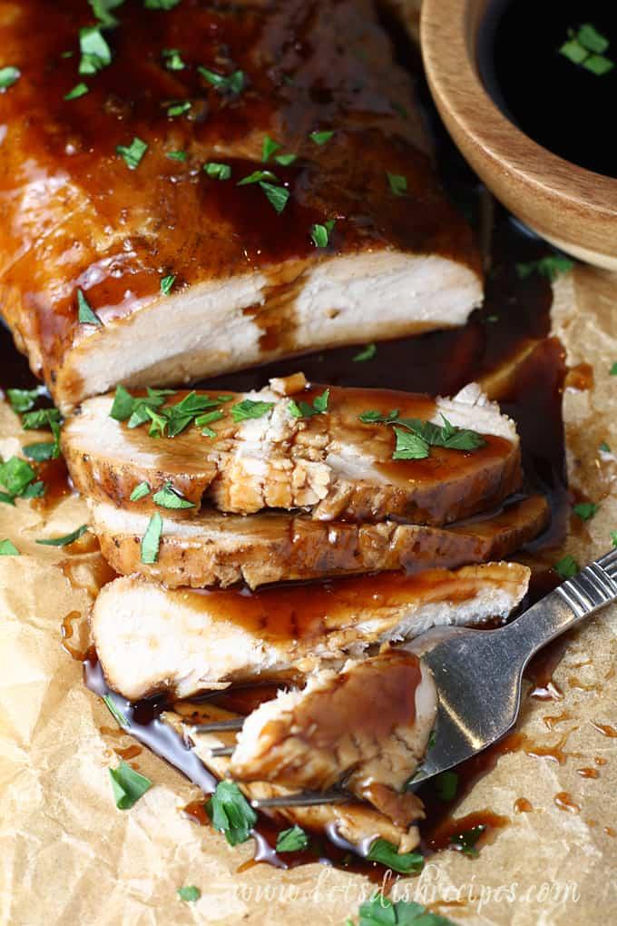 Slow Cooker Brown Sugar and Balsamic Glazed Pork Tenderloin