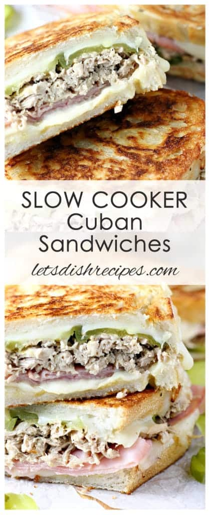 Slow Cooker Cuban Sandwiches