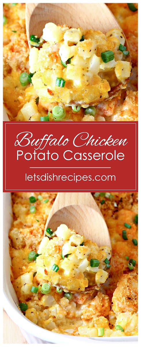 Award Winning Buffalo Chicken Potato Casserole