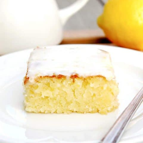 Lemon Blondies with Lemon Glaze