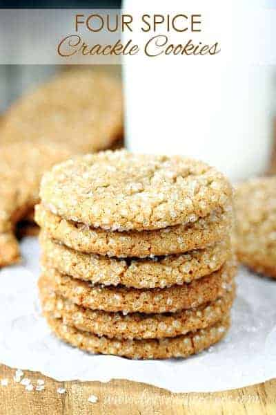 Four Spice Crackle Cookies