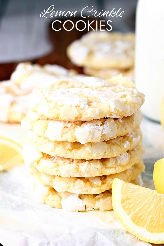Award Winning Lemon Crinkle Cookies