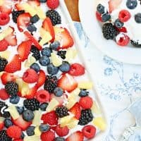 Fruit & Pudding Cake