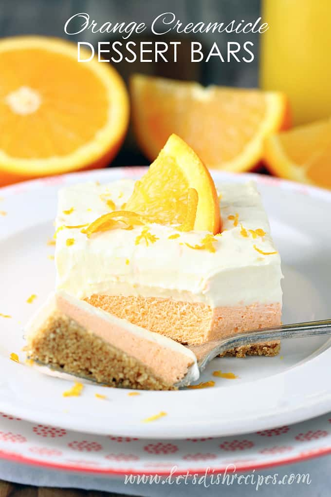 Orange Creamsicle Dessert Bars