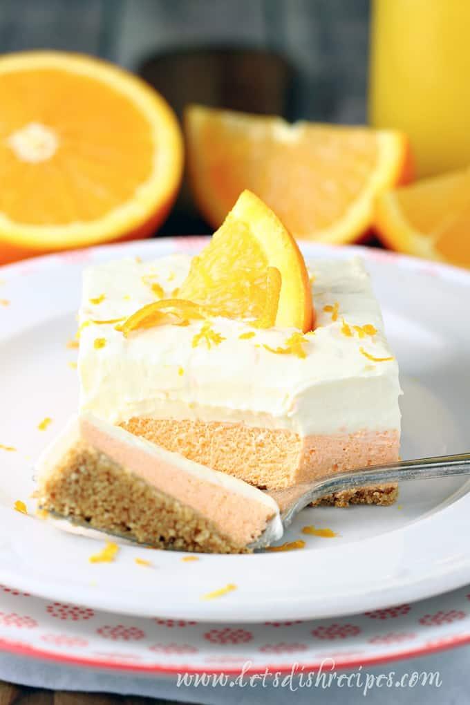 Orange Creamsicle Dessert Bars