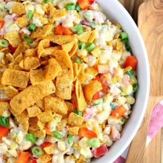 Chili Cheese Fritos Corn Salad