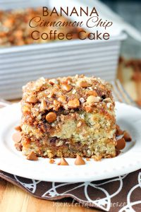 Banana Cinnamon Chip Coffee Cake