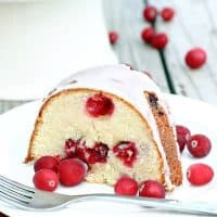 Cranberry Cream Cheese Pound Cake