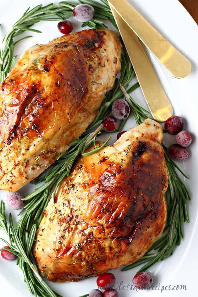 Rosemary Roasted Turkey Breast Let S Dish Recipes