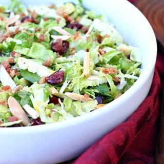 Brussels Sprout & Bacon Salad with Cranberries