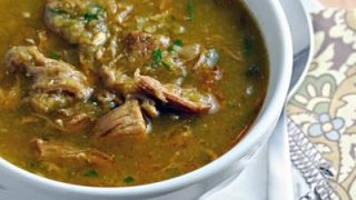 Slow Cooker Pork Chili Verde: Tender pork, slow cooked in a spicy chili verde sauce. Delicious on it's own, or