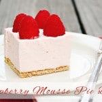 Raspberry Mousse Pie Bars