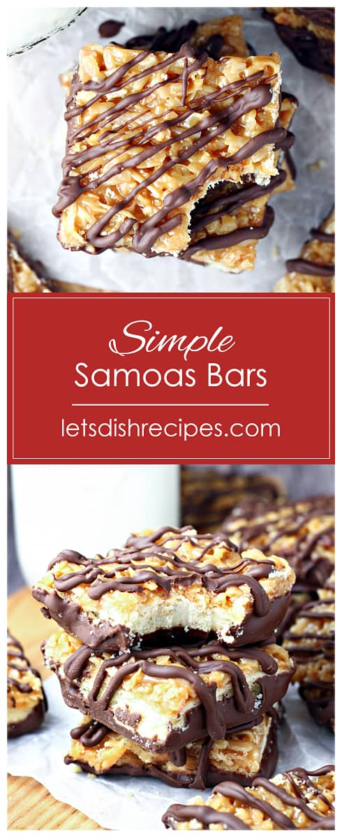 Simple Samoas Bars