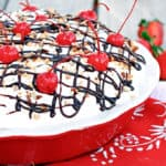No-Bake Mile High Banana Split Pie