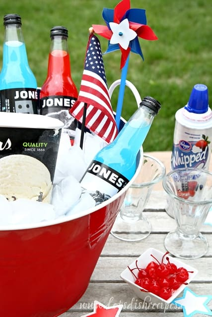 Independence Day Ice Cream Soda Bar