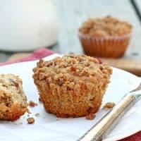 Rhubarb Ginger Oatmeal Muffins