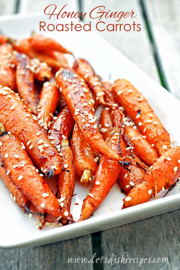 Honey Ginger Roasted Carrots