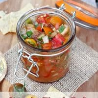 Garden Fresh Salsa with Roasted Jalapenos