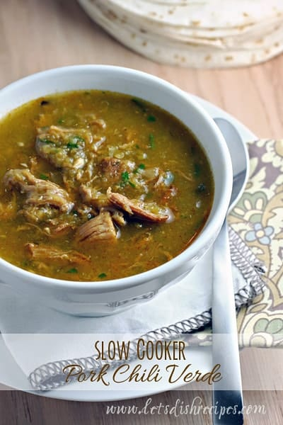 Slow Cooker Pork Chili Verde