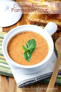 Creamy Tomato Parmesan Soup