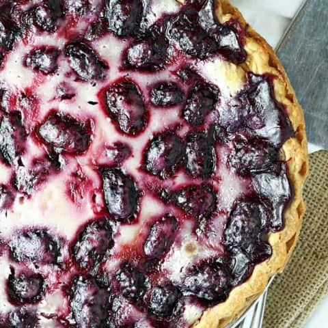Blackberry Sour Cream Pie