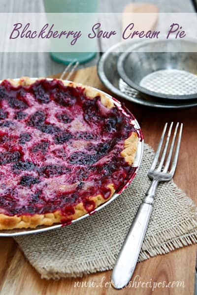 Blackberry Sour Cream Pie