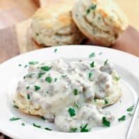 Herbed Biscuits with Sausage Gravy