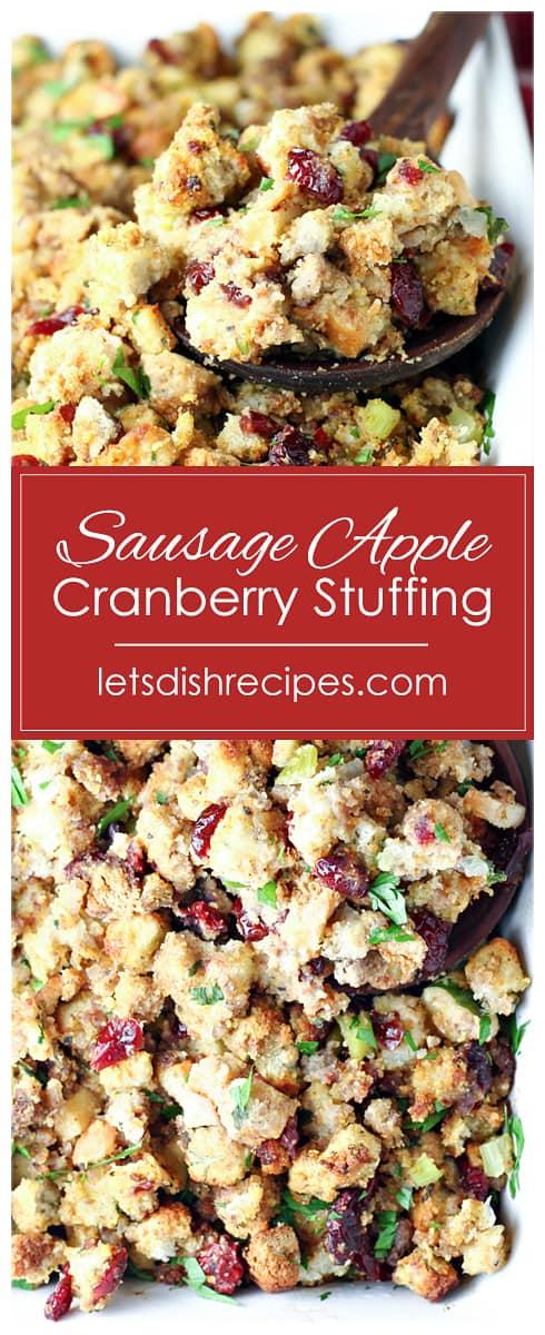 Sausage Apple Cranberry Stuffing