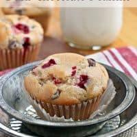Cranberry Dark Chocolate Muffins