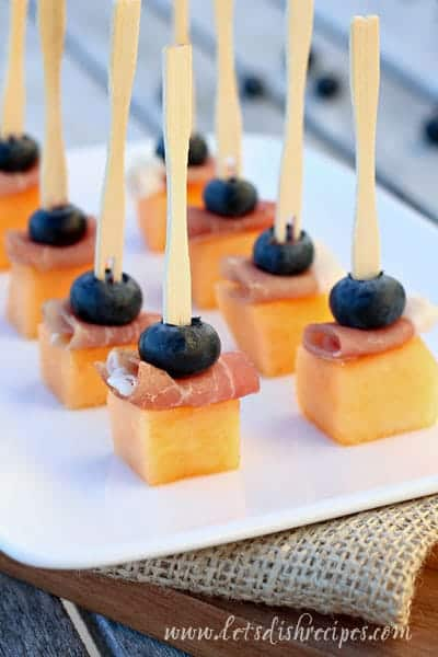 Melon and Blueberries with Prosciutto
