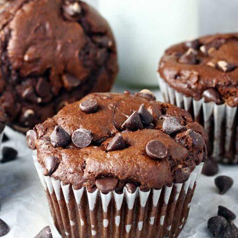 Double Chocolate Muffins (Costco Copycat Recipe)