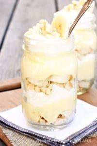Mason Jar Banana Pudding