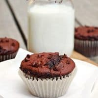 Double Chocolate Muffins (Costco Copycat Recipe)