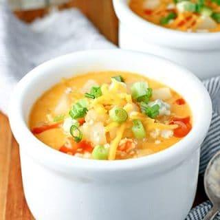 Buffalo Chicken Potato Soup