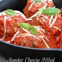 Jumbo Cheese Filled Italian Meatballs