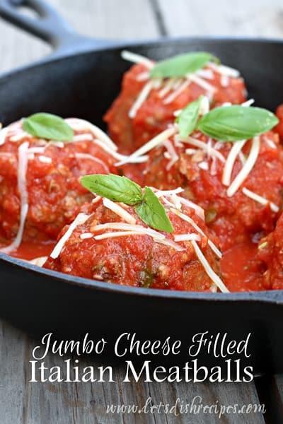 Jumbo Cheese Filled Italian Meatballs