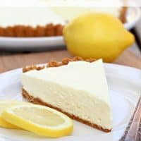 Easy No-Bake Lemon Tart