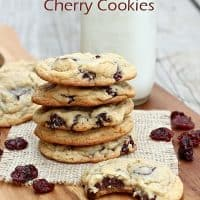 Chewy Chocolate Chunk Cherry Cookies
