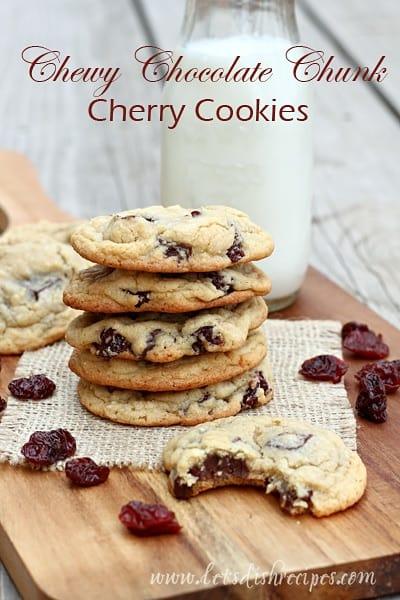 Chewy Chocolate Chunk Cherry Cookies