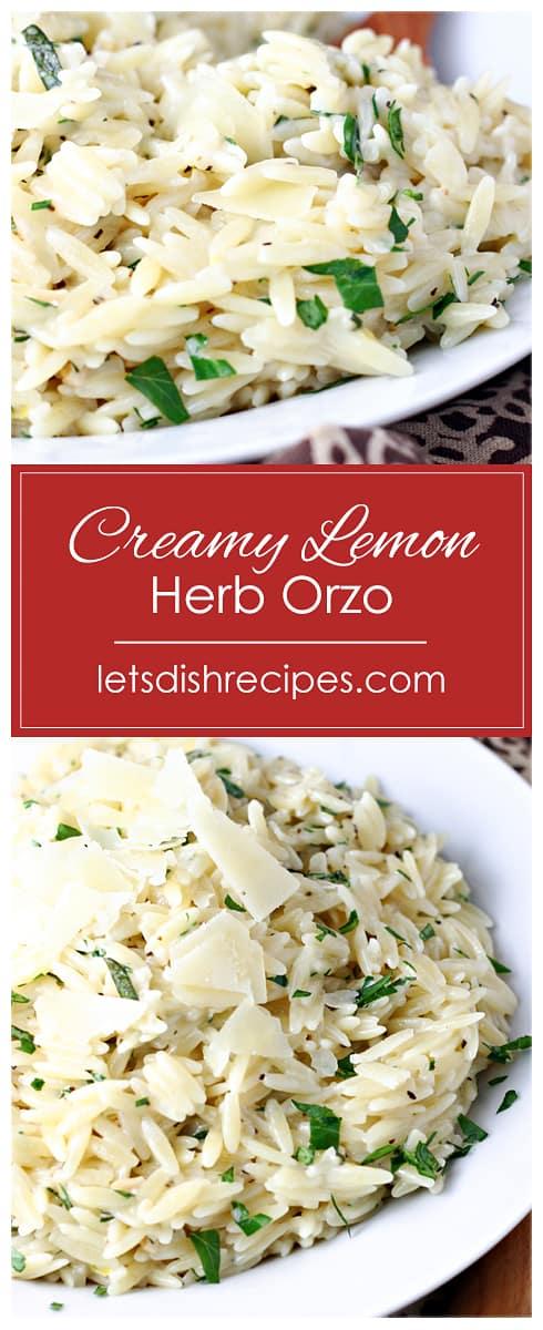 Creamy Lemon Herb Orzo